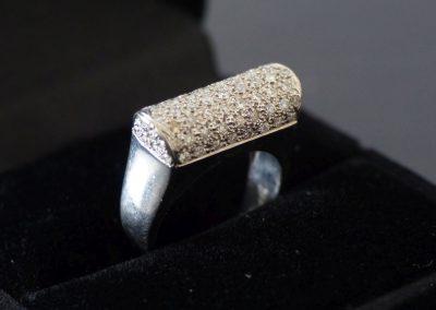 Damenring Weißgold mit Diamanten
